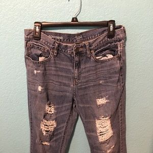 ana boyfriend distressed jeans size 29/8